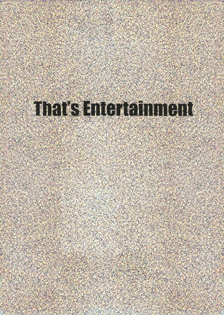 Thats's Entertainment Cover © Celeste Fichter